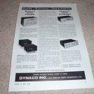 Dynaco Mark III,PAS 3, FM 3,SCA-35 Amp, Pre, FM Ad 1964