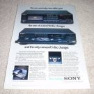Sony Cd PLayer AD from 1987,RETRO! CDP-c10,c5f