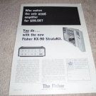 Fisher KX-90 Kit Amplifier AD from 1965