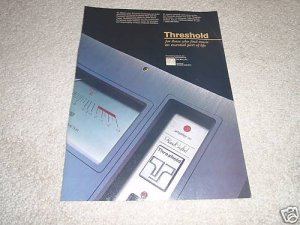Threshold Audio Ad,Class A Ad from 1989