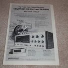 Kenwood KR-9940,8840 Receiver Ad,1975,QUAD! specs