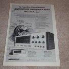 Kenwood KR-9940,8840 Receiver Ad,1975,QUAD! specs