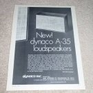 Dynaco A-35 Speaker AD, 1972, Article, Info 1 page