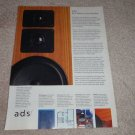 A/D/S Speaker Ad, 1990, Article,Details, Nice Ad