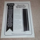 Magneplanar MG-20 Speaker Ad, 1994, Article, RARE!
