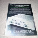 Counterpoint Tube Preamp Ad from 1992, SA-5000