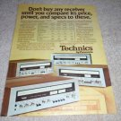 Technics SA-5150,5250,5350,5500 Receiver Ad from 1975