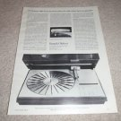 Bang & Olufsen Beogram 4002 Turntable Ad from 1974