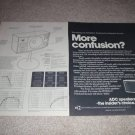 ADC WDDS-12 Speaker Ad, 2 pages, specs, inside view