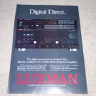 Luxman D109 CD, LV-109 Amp Ad, Article, Nice Ad!