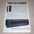 NAD 7600 Receiver Ad, 1987, Article, specs, Rare!