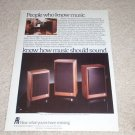 Acoustic Research AR 8b,18b,28b Ad, 1983, Article, NICE