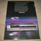 Technics Sl-P2 Cd Player Ad from 1985,mint