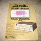 Hitachi Vintage Ad 1980  SR-604 Receiver