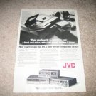 JVC Vintage Ad from 1980 Cassette Decks