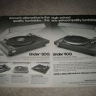 Sansui SR-525,222 Turntable Ad from 1976,2 pages