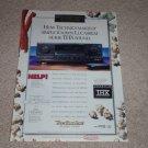 Technics THX SA-TX1000 Receiver Ad, 1995,Article,Rare!