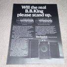 Technics SB-7000a,6000a,5000a Speaker Ad,RARE! 1977