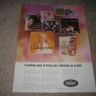 1959 Record Ad Capitol Dinah Shore,Sinatra,Nat Kg Cole