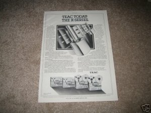Teac X-Series Vintage Ad 1979 Reel to Reel