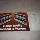 Pioneer SX-828,727626,525 Ad,4 pgs,specs,article