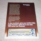 Technics SA-1000, 300x2 watts!1978 Ad,1 pg,specs,RARE!