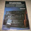 Denon ReceiverDRA-75VR Ad,DCD-1500,DRM-30hx color, 1987