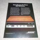 Bose 550 Receiver Ad from 1979, Rare Bose Ad! Color