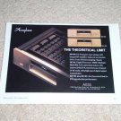 "Accuphase DP-90,DC91 CD, D/A Converter Ad, 1994, 6""x9"""