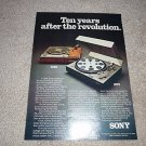 Sony PS-4750 Turntable Ad from 1975,mint!