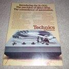 Technics SL-1300, Beautiful Turntable Ad from 1977