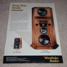 Westlake Audio SM-1,Lc6.75, Rare Speakers, Ad from 1999