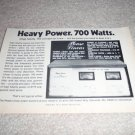 "Phase Linear 700 Ad, 6""x8"",specs,article,Carver 1972"