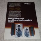 Technics SB-X10,SB-X50 Speaker Ad, 1978,color, article