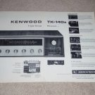 Kenwood TK-140x Receiver Ad, 2 pgs, 1969, Features