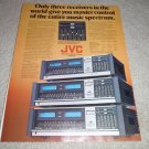JVC s600 II,400,300, specs Ad from 1977