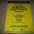 MFSL Gordon Lightfoot Sundown LP AD from 1979
