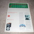 JBL L112 Speaker Ad from 1981,color,chart,details