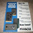 Pinnacle PN70,PN50 AD from 1990 Near Mint