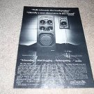 Polk SDA-1,Monitor 4 Speaker Ad from 1985,review,1 page