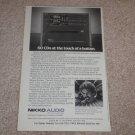 "Nikko NCD-600 CD Changer Ad, 1986,Article, RARE! 6""x9"""