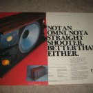 Fisher ST-550 Studio Speaker Ad from 1973,2 pgs
