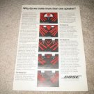 BOSE Vintage Ad from 1982 601, 901, 301