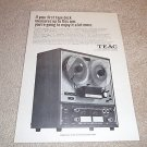 Teac A-4010s Open Reel Deck Ad,1 page,specs,excellent!