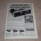 Scott LT-110 Tube Tuner Kit Ad,1962,Amps, Specs,Article