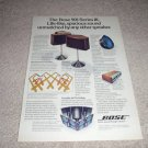 Bose 901 Speaker AD from 1977, Series III, color