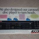 Adcom GCD-600 Cd Ad, 1993,2 pgs, Article, Beautiful!