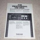 TASCAM 122 Studio Cassette Ad, 1982, Features, Rare Ad!