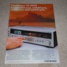 Onkyo TA-2050 Cassette Ad, Article, Color, RARE Ad!1978
