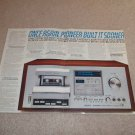 Pioneer CT-F900 Cassette Ad, 3 pgs, Articles, Specs